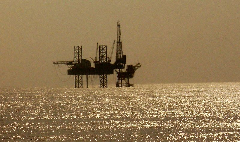 Solitary Oil Rig In The Arabian Sea