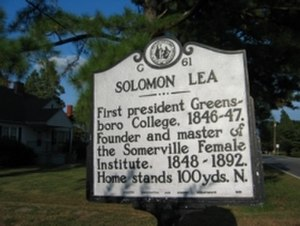 Leasburg, North Carolina - Solomon Lea Historical Marker in Leasburg, North Carolina