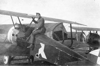 11 Squadron (Belgium) - A Sopwith Camel showing the white Cocotte insignia of 11th Squadron