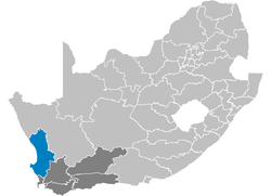 Ligging West Coast District Municipality