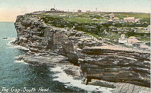 Sydney Heads - Historic painting of South Head