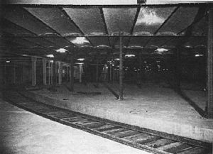 Greenbush Line - Lower-level loop platforms at South Station, built for planned electrified service on the South Shore Line and other commuter lines