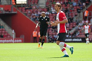 2017–18 Southampton F.C. season - Manolo Gabbiadini scored the club's first goal of the season in their second match, against West Ham United.