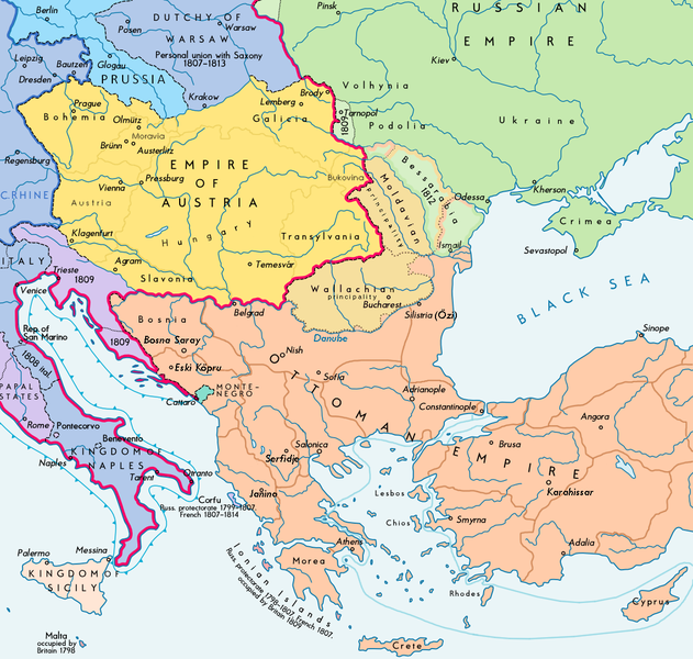 FileSoutheast Europe Map EnPNG Wikimedia Commons - Map of us in 1812