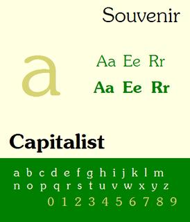 Souvenir (typeface) Typeface