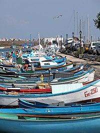 Fishermen's boats in Sozopol