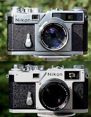 Nikon S-mount - Nikon SP of 1957, above, and Nikon S3 of 1958, below
