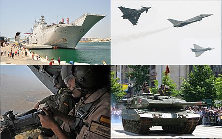 Aircraft carrier/assault ship Juan Carlos I (L61) in Cartagena, Spain, multirole fighter Eurofighter Typhoon, Boeing CH-47 Chinook, universal tank Leopard 2 Spanish military images (1).jpg