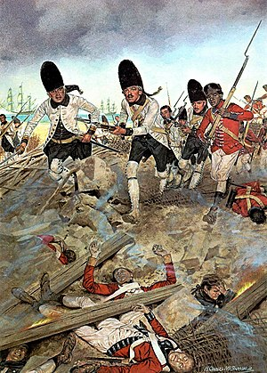 British West Florida - Spanish troops storm Pensacola in 1781