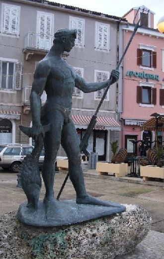 Spearfishing - Spearfisher Monument in Croatia