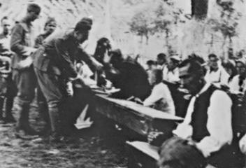 Srpski dobrovoljački korpus spasava narod na Drini 1942 godine 2.png