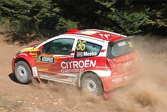 Kris Meeke - Meeke with a Citroën C2 S1600 at the 2005 Acropolis Rally.