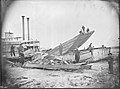 St. Louis Levee, Steamboat Sioux City wrecked in ice.jpg