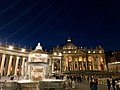 St. Peter's Square and St. Peter's Basilica by Night (45896959554).jpg