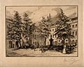 St Bartholomew's Hospital, London; a corner of the Gibbs cou Wellcome V0013012.jpg