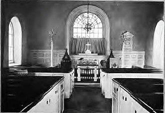 St. David's Episcopal Church (Radnor, Pennsylvania) - Interior photograph of St. David's Church circa 1907.