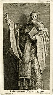 Gregory of Nazianzus 4th-century Christian saint, bishop, and theologian