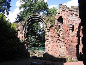 St John the Baptist's Church, Chester - Ruins of St John's