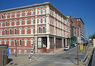 St. Joseph, Missouri - The intersection of Francis and North 4th Streets in downtown St. Joseph