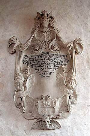 Henry Chauncy - Monument in Ardeley Church to Chauncy's son, also called Henry.