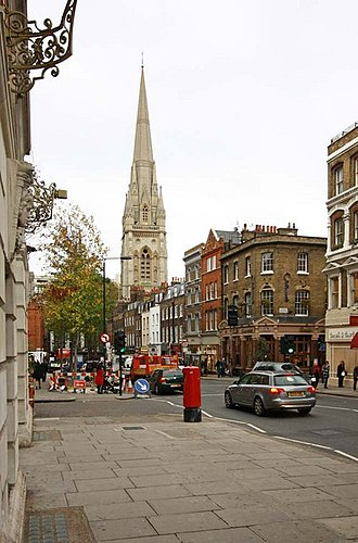 Kensington - Image: St Mary Abbots, Kensington High Street, London W8 geograph.org.uk 1590248