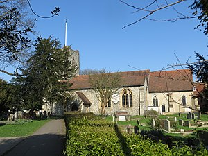 Grade I listed buildings in Surrey - Image: St Marys Church at Walton on Thames (geograph 3891990)