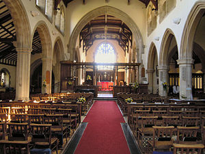 Church of St Michael the Archangel, Aldershot - The nave looking east