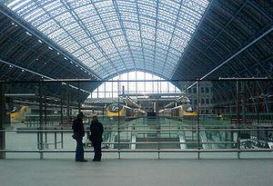 St Pancras Internation station's Eurostar plat...