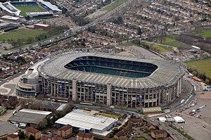 Stade de Twickenham à Londres. Le stade de Twi...