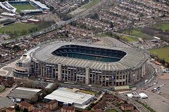 Twickenham Stadium - Image: Stade de Twickenham à Londres