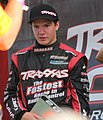 Stadium Super Trucks Sheldon Creed waiting for second place interview.jpg