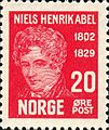 Stamps of Norway, 1929-Niels Henrik Abel3.jpg