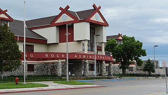 Standing Rock Indian Reservation - Standing Rock Administrative Service building, Fort Yates