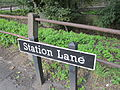 Station Lane street sign, Pontefract.JPG