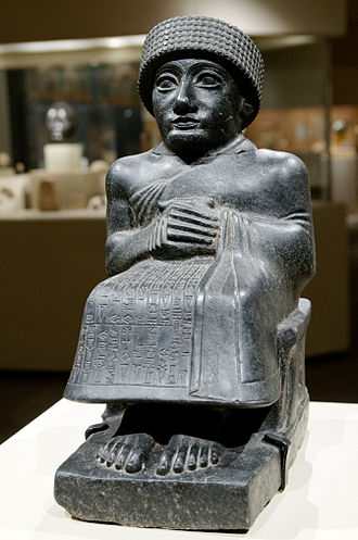 Art of Mesopotamia - One of 18 Statues of Gudea, a ruler around 2090 BC