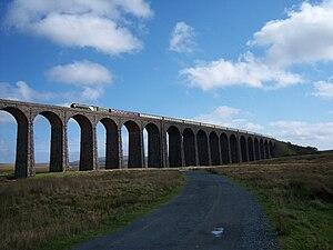 Settle–Carlisle line - Steam locomotive ''Tornado'' on the Ribblehead Viaduct