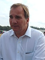 Stefan Löfven at the Swedish Social Democratic Youth League's general election camp 2014 (14658623729).jpg