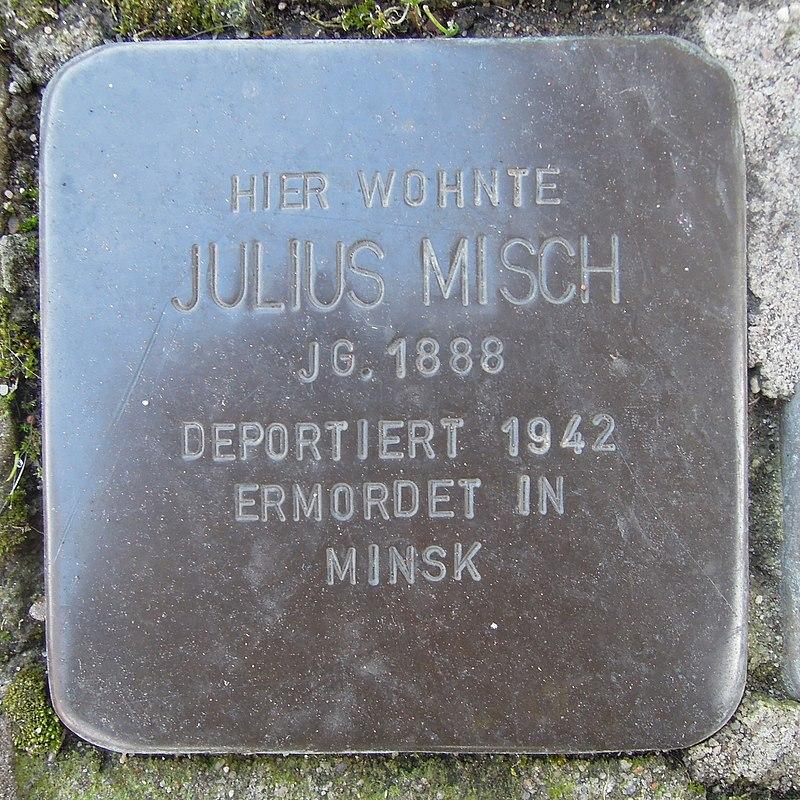 Stolperstein Alpen Bruckstraße 20 Julius Misch