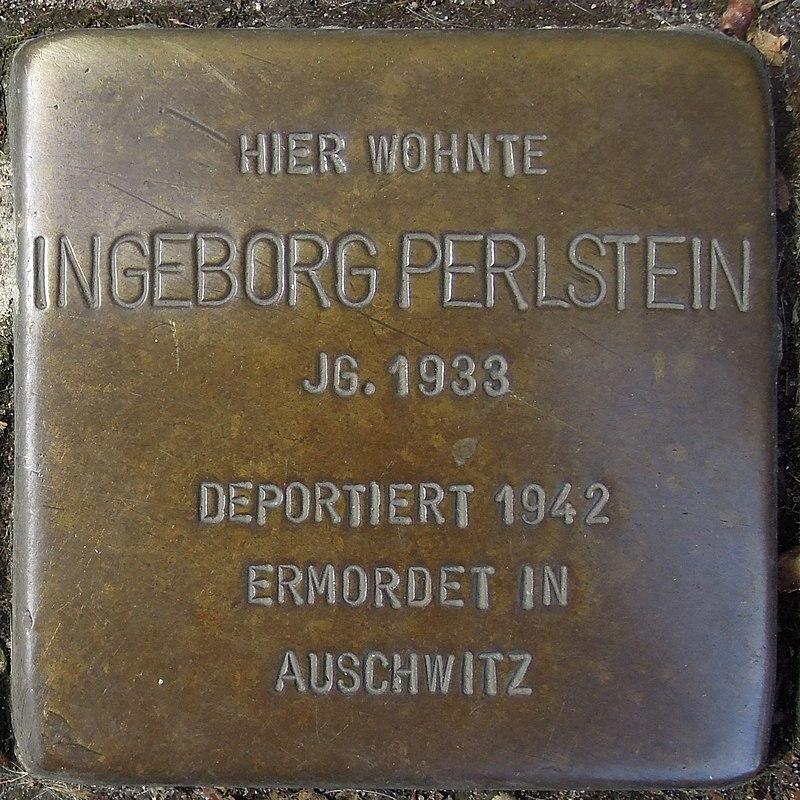 Stolperstein Dorsten Essener Straße 18-20 Ingeborg Perlstein.jpg