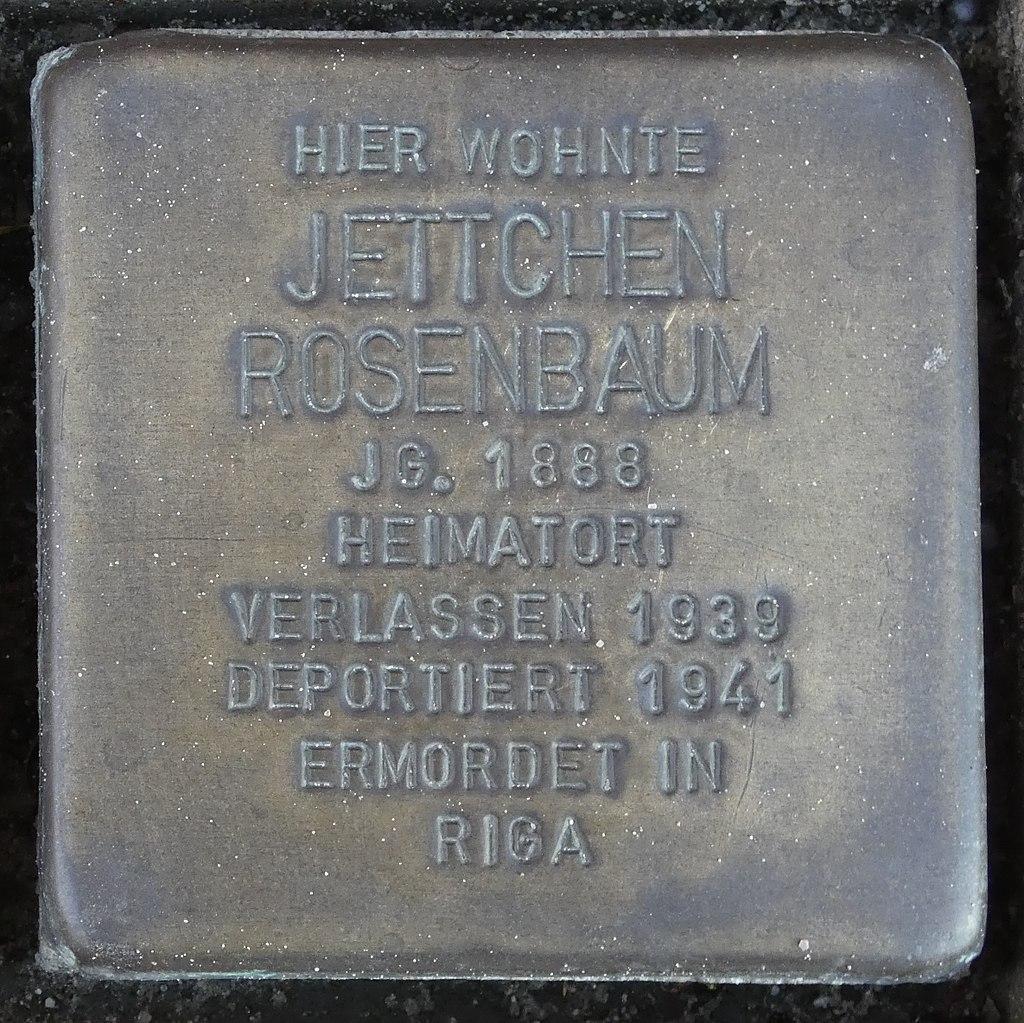 Stolperstein Kirchstrasse 18 Legden Jettchen Rosenbaum.jpg