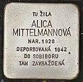 Stolperstein für Alica Mittelmannova.jpg