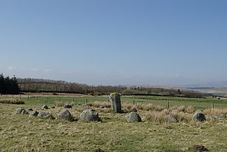 Glenquicken stone circle - Image: Stone Circle south of Old Military Road geograph.org.uk 1290115