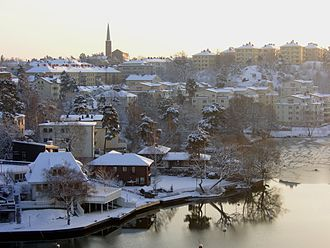 Stora Essingen - Stora Essingen during winter