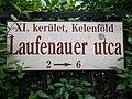 Street sign. - Laufenauer Street, Kelenföld.JPG