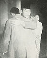 Sukarno hugging Sudirman, Kota Jogjakarta 200 Tahun, plate after page 80.jpg