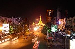 Sule Pagoda Road :Author: Ralf-André Lettau :D...