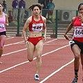 Sun Fengyan of China Women 200m Heats In Progress (cropped).jpg