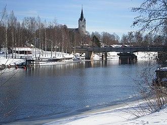 Sunne, Sweden - Sunne Sound and Sunne Church in March 2010
