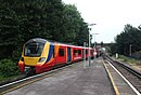 Sunnymeads - SWR 707003+707025 (Stagecoach livery) up train.JPG