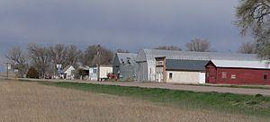 Sunol, Nebraska - Downtown Sunol: north side of U.S. Highway 30/385